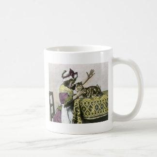Victorian Tea Time With Kitty Tea Party Vintage Coffee Mug