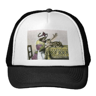 Victorian Tea Time With Kitty Tea Party Vintage Trucker Hat