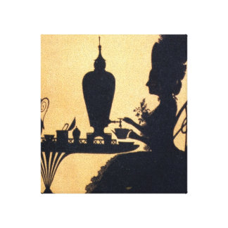Victorian Tea Wrapped Canvas