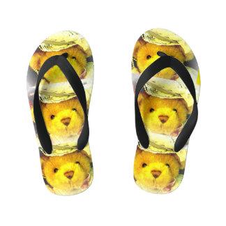 Victorian Teddy Bear Flip Flops