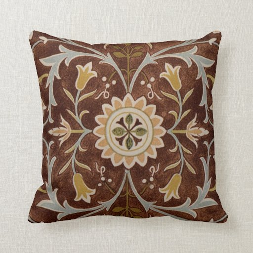 Victorian Throw Pillows : Victorian Textile Design - 1 Throw Pillows Zazzle