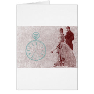 Victorian Time Wedding Pocket Watch Card