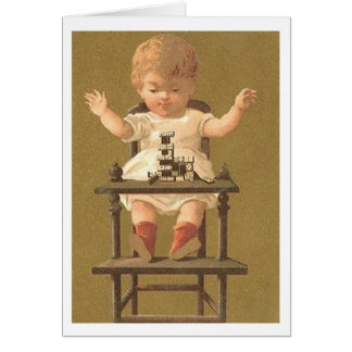 Victorian Toddler in High Chair Card