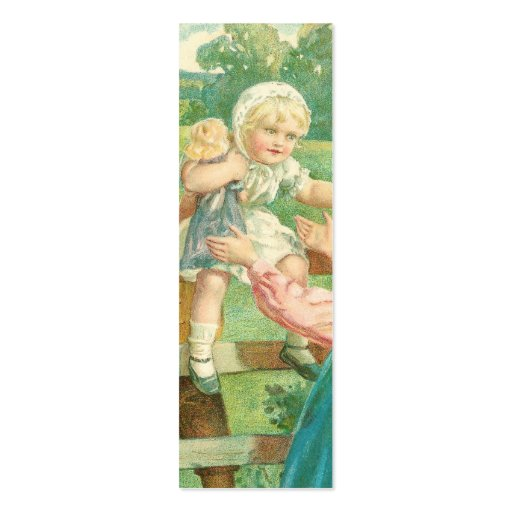 Victorian toddler mini business card