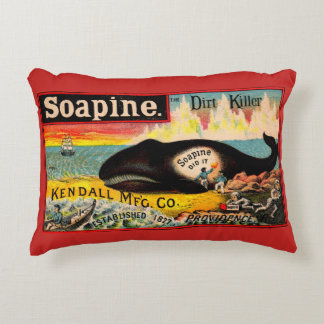 Victorian trade card Soapine the Dirt Killer print Accent Pillow