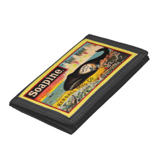 Victorian trade card Soapine the Dirt Killer Trifold Wallet