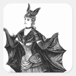 Victorian/traje gótico de Batgirl/del palo Pegatinas Cuadradases