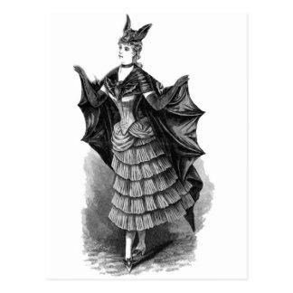 Victorian/traje gótico de Batgirl/del palo Postal