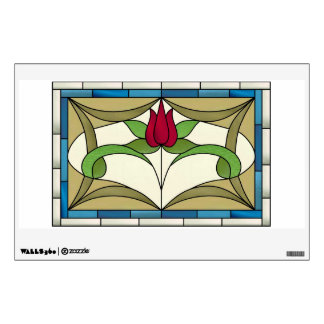 Victorian Tulip Window and Wall Decal