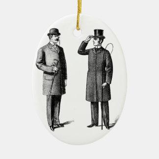 Victorian Two gentlemen Adornos De Navidad