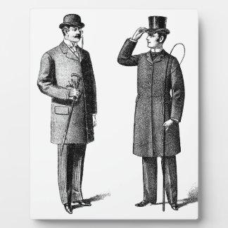 Victorian Two gentlemen Placa De Madera