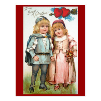 Victorian Valentine Antique Post Card Lovers