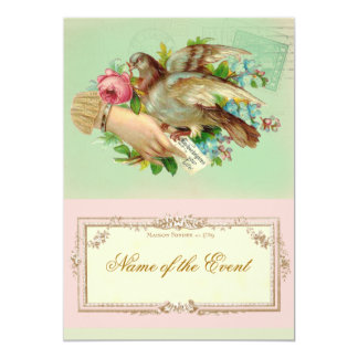 Victorian Valentine Bird and rose Card