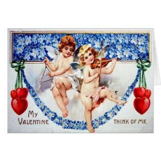Victorian Valentine Greeting Card