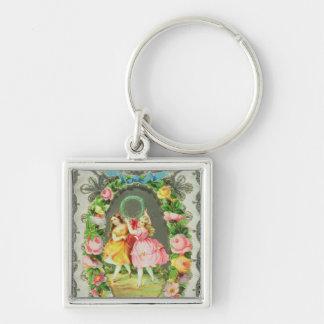 Victorian Valentine Card Key Chains