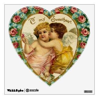 Victorian Valentine Cherub Heart Wall Graphic