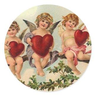 `Victorian valentine cuipid Sticker's sticker