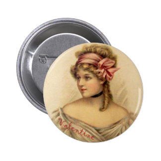 Victorian Valentine Greetings Button
