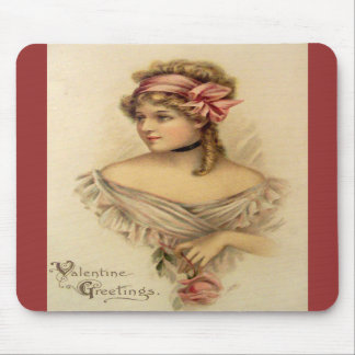 Victorian Valentine Greetings Mousepad