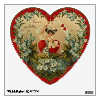 Victorian Valentine Heart Wall Decal