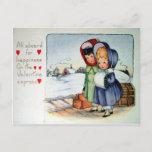 Victorian Valentine Holiday Postcard