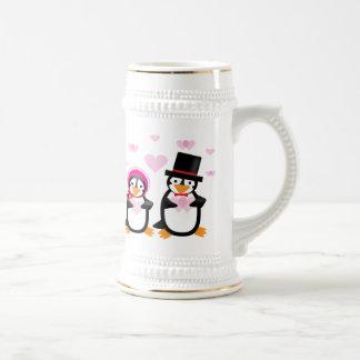 Victorian Valentine Penguin Stein/Mug Beer Stein