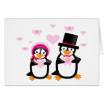 Victorian Valentine Penguins Greeting Cards