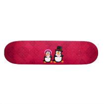 Victorian Valentine Penguins Skateboard