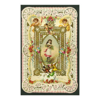 Victorian Valentine Personalized Stationery