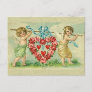 Victorian Valentine Postcard postcard