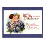 """Victorian Valentine """"The Bliss of Kisses"""" Cupids Postcard"""