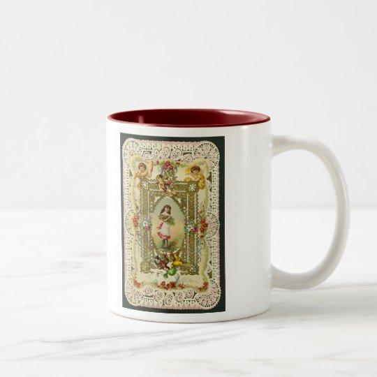Victorian Valentine Two-Tone Coffee Mug