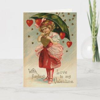 Victorian Valentine's Day Card card