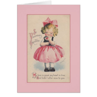 Victorian Valentine's Day Greeting Card