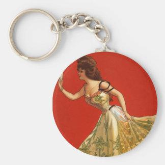 Victorian Vaudeville star Anna Held (1899) Keychain