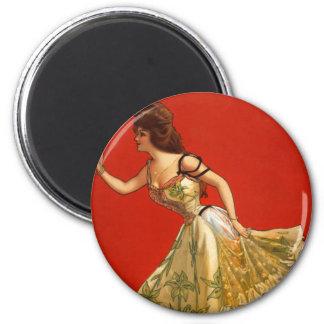 Victorian Vaudeville star Anna Held (1899) Magnet