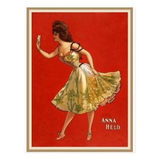 Victorian Vaudeville star Anna Held (1899) Postcard