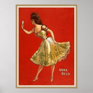 Victorian Vaudeville star Anna Held (1899) Poster
