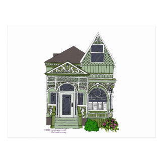 """Victorian """"verde pintado de la señora"""" - postal"""
