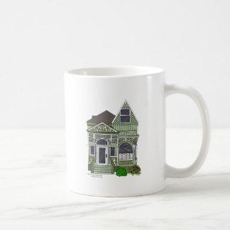 Victorian verde pintado de la señora - taza de café