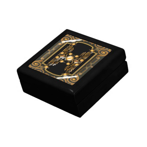 Victorian vintage antique black gold gift boxes