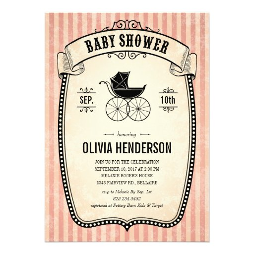 Vintage Baby Shower Invitations Girl ~ Victorian vintage baby shower invitations for girl quot