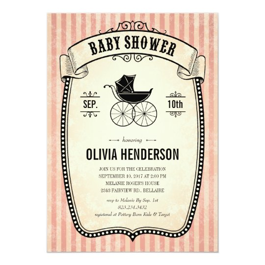 Victorian vintage baby shower invitations for girl zazzle victorian vintage baby shower invitations for girl filmwisefo