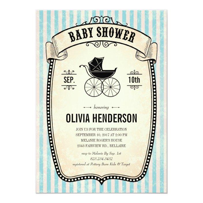 Victorian Vintage Boy Baby Shower