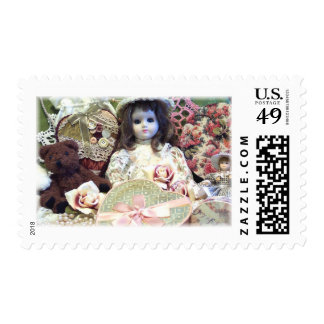 Victorian Vintage Collage of Toys Postage