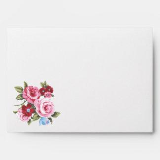 Victorian Vintage Floral Envelopes