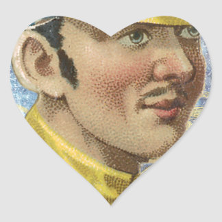 Victorian Vintage Jockey Horse Riding Heart Sticker