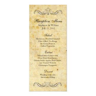 Victorian Vintage Ornate Reception Menu Card