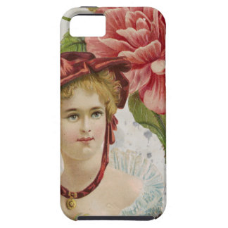 Victorian Vintage Red Rose Lady iPhone SE/5/5s Case