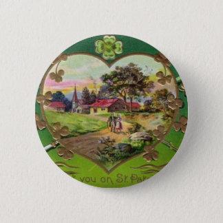 Victorian Vintage Retro Irish St. Patrick's Day Button